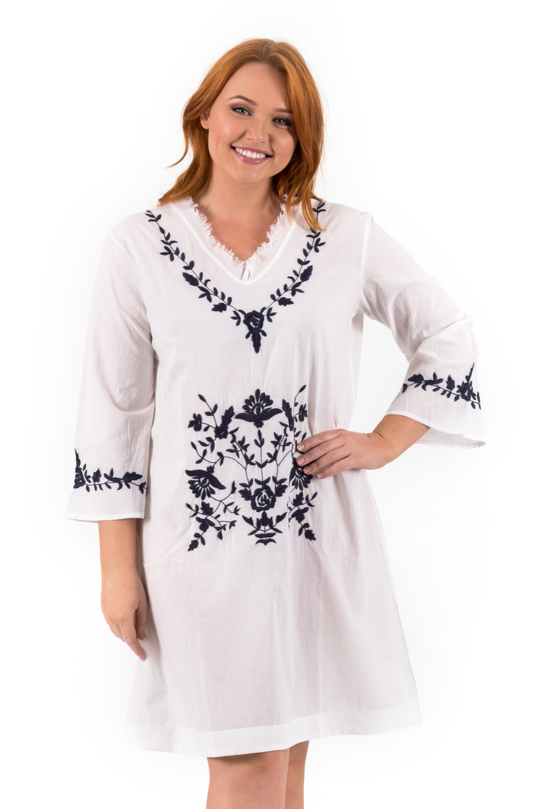 Tunic Dress | Daisy | Embroidered