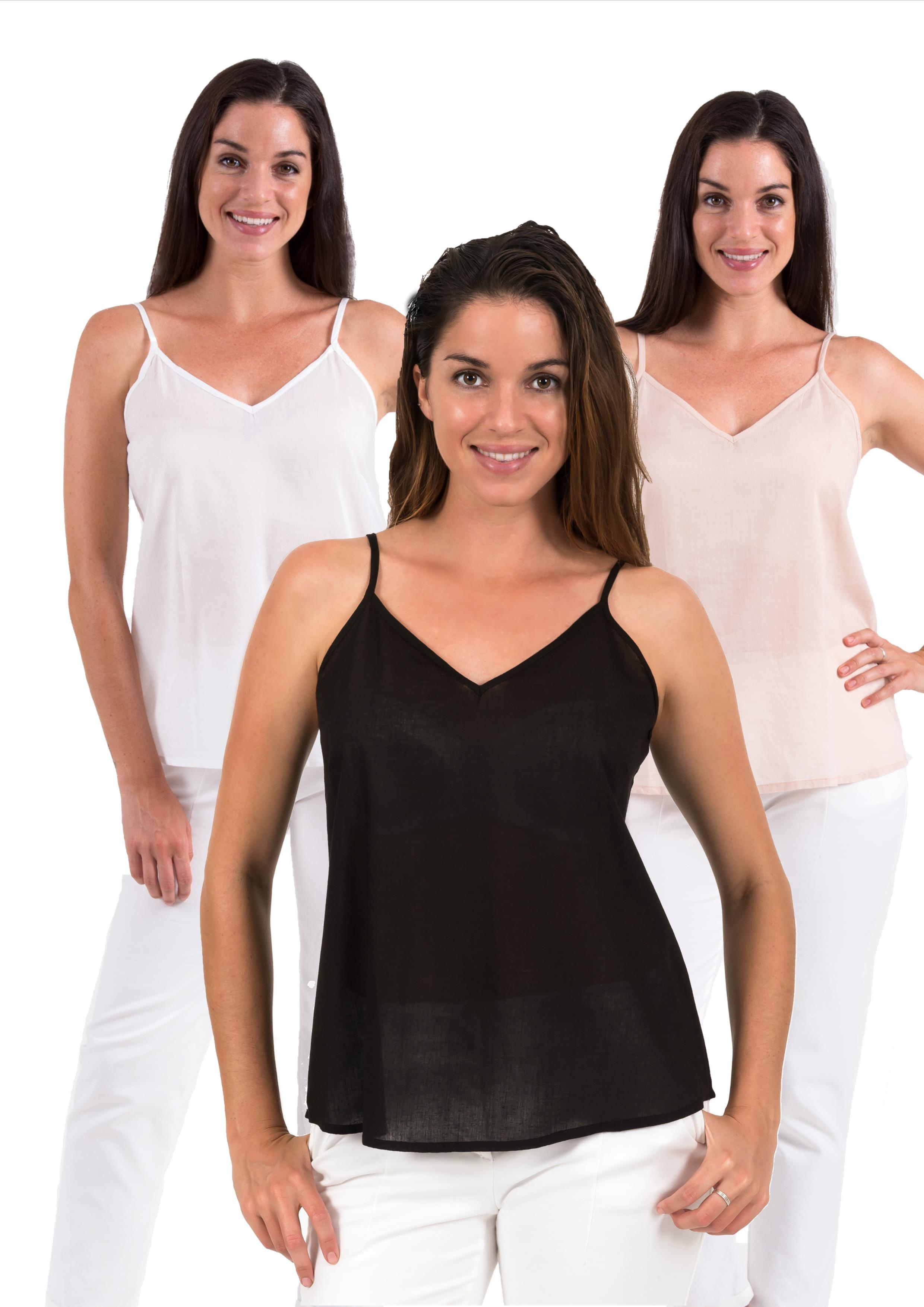 Cotton Camisole's and women's dress slips