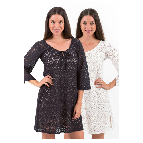 Cotton Lace Dress or Tunic | Aloha | Black or White