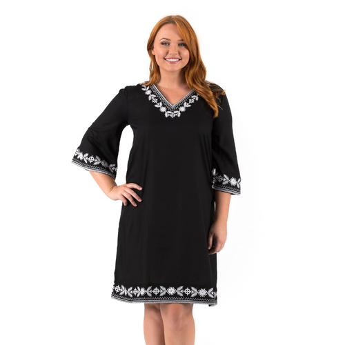 Tunic Dress | Black | Amara | XS - 3XL
